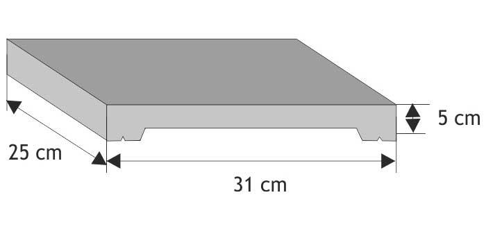 Daszek podmurówkowy płaski z gładkim licem
