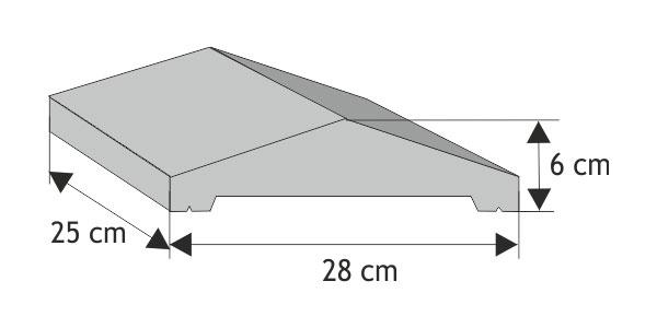 Daszek podmurówkowy  dwuspadowy wystający