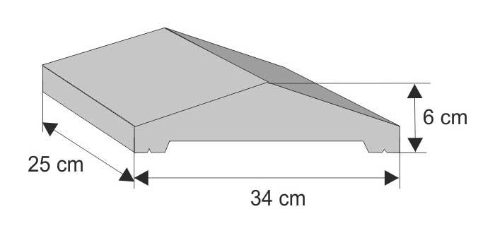 Daszek systemowy dwuspadowy (wystający)