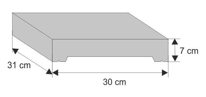 Daszek systemowy płaski (wystający)