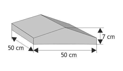 Daszek słupkowy do  poddasza cienkiego   dwuspaodwy