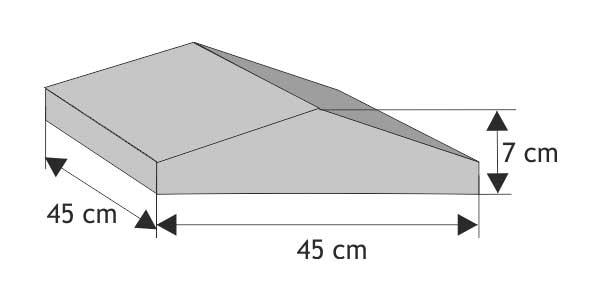 Daszek słupkowy  dwuspadowy (wystający)
