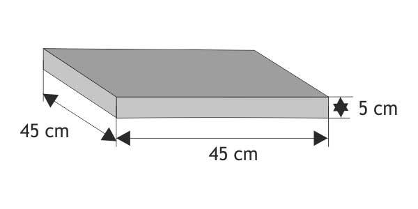 Daszek słupkowy  płaski (wystający)