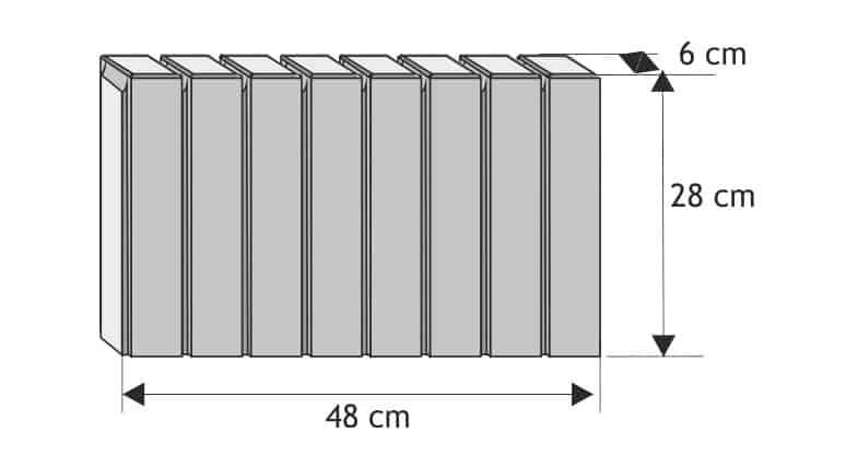 obrzeże palisadowe prostokąt