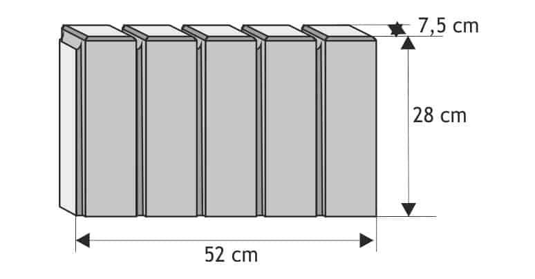 obrzeże palisadowe kwadrat