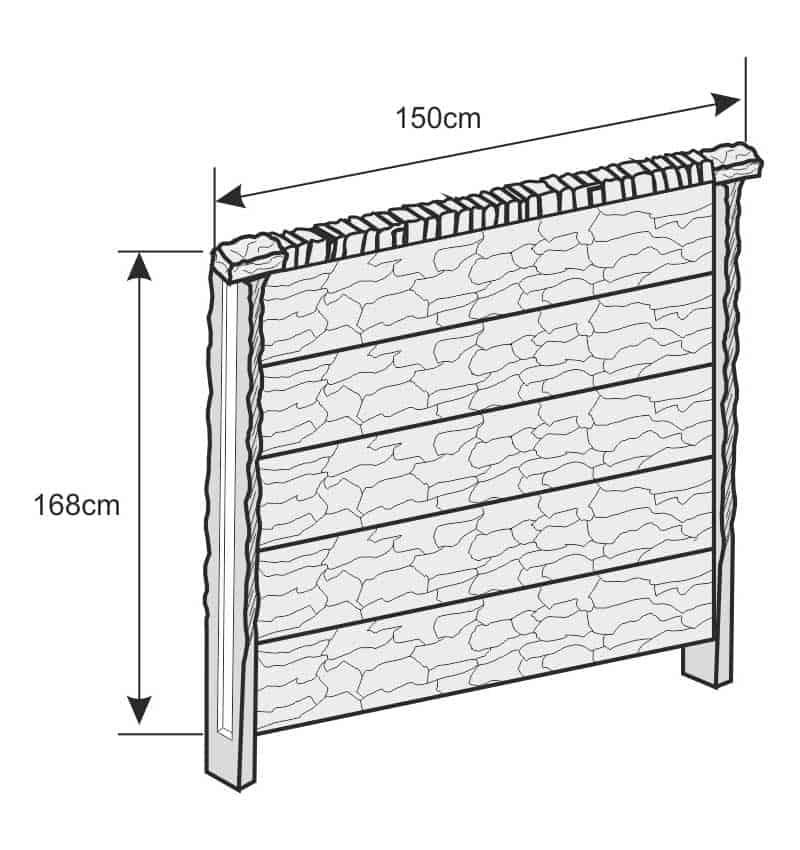 schemat montażu ogrodzenia