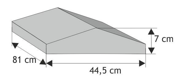 Daszek słupkowy dwuspadowy  wystający bez okapnika