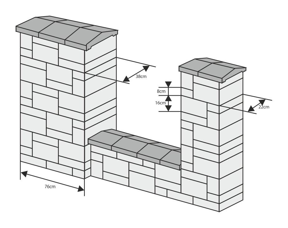 Słupki w schemacie układania płytkowego
